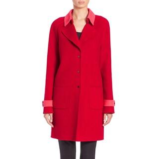 Elie Tahari Lisa Red Wool Coat