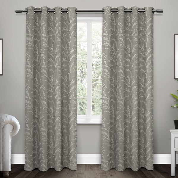 Kilberry Woven Polyester Blackout Grommet Top Window Curtain Panel Pair (As Is Item)