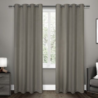 ATI Home Melrose Woven Blackout Grommet-top Window Curtain Panel Pair