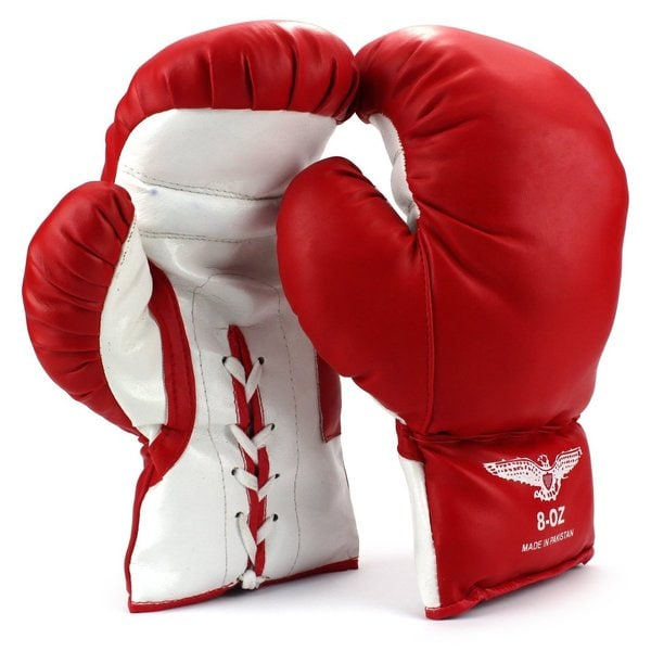 Velocity Toys Kids 8-ounce Lace Up Training Boxing Gloves