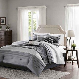 Madison Park Casey Black Comforter 7 Piece Set