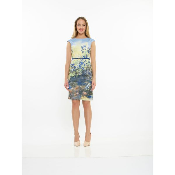 Amelia Sleeveless Cotton Printed Dress
