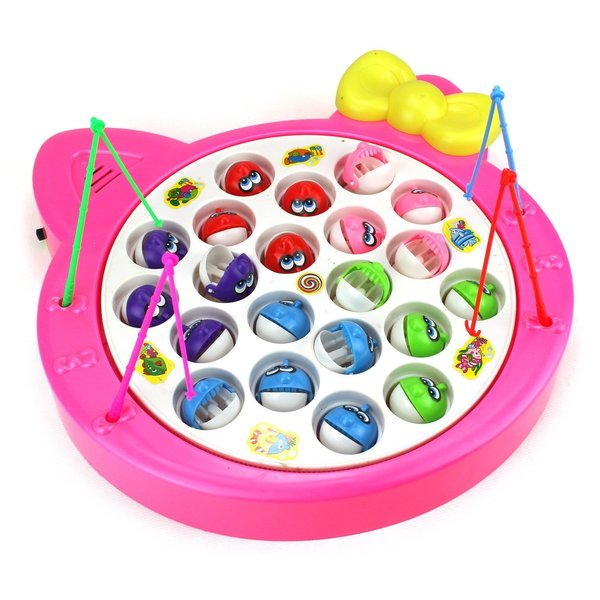 Velocity Toys Pink Fishing Game
