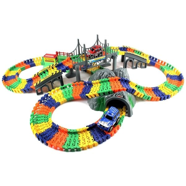Velocity Toys Pleasant Journey 234-piece Flexible Toy Track Playset