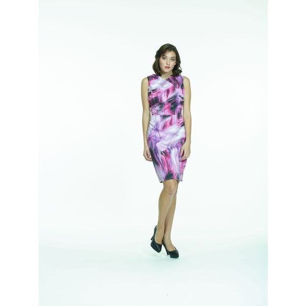 Amelia Multicolored Cotton Sateen Sleeveless Dress
