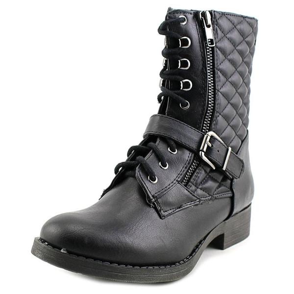 White Mountain Women's Outlaw Black Faux Leather Boots