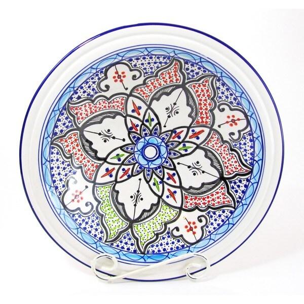 Le Souk Ceramique Tibarine Medium Stoneware Serving Bowl (Tunisia)