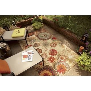 "Mohawk Home Printed Indoor/ Outdoor Alexa Medallion Multi Area Rug (7'6""x10')"