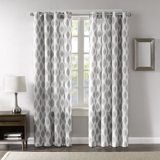 Madison Park Ivy Printed Ikat Curtain Panel