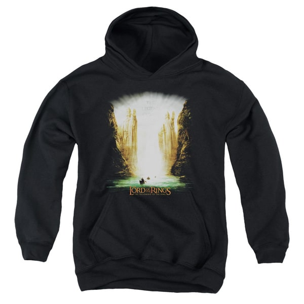LOTR/Kings Of Old Youth Pull-Over Hoodie in Black