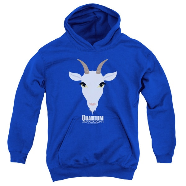 Quantum and Woody/Goat Head Youth Pull-Over Hoodie in Royal Blue