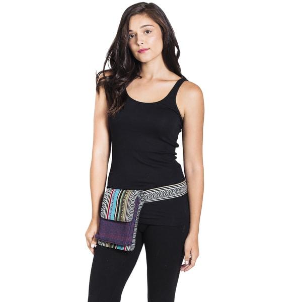 Vintage Aztec Cotton Boho Waist Fanny Pack-Multi (Nepal)