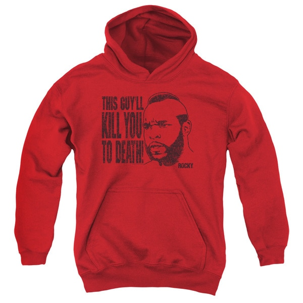 MGM/Rocky/Kill You To Death Youth Pull-Over Hoodie in Red