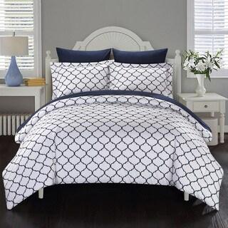 Chic Home 7-Piece Maitland BIB Comforter Set, Navy