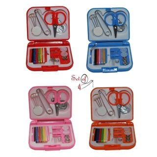 SmartCare Assorted Colors Mini Travel Sewing Kit in Storage Case (Pack of 4)