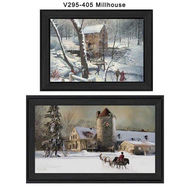 """Millhouse Vignette"" Collection By R. Vieira and G. Turley, Printed Wall Art, Ready To Hang Framed Poster, Black Frame 19900111"