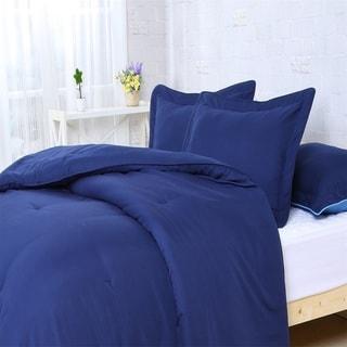 Super Soft Solid 3-piece Comforter Set