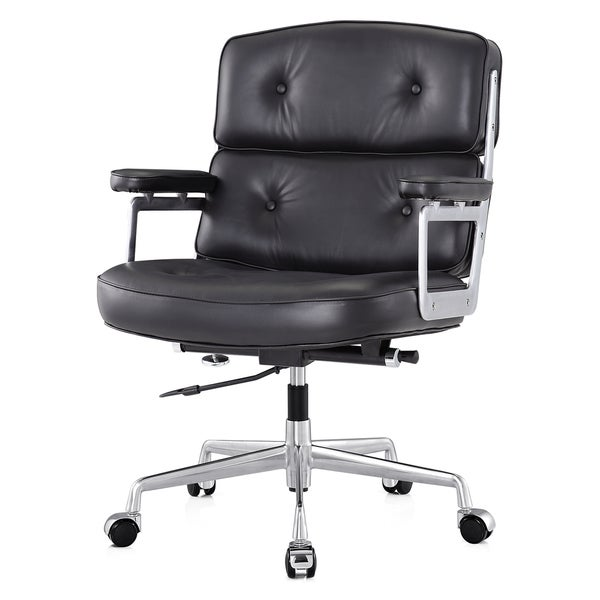 M310 Black Aniline Leather Office Chair