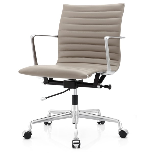 M5 Grey Aniline Leather Office Chair