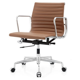 M400 Brown Aniline Leather Office Chair