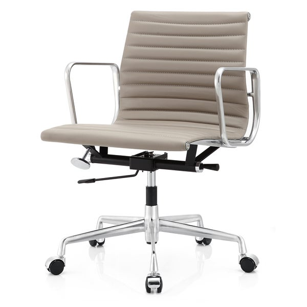 M400 Grey Aniline Leather Executive Office Chair