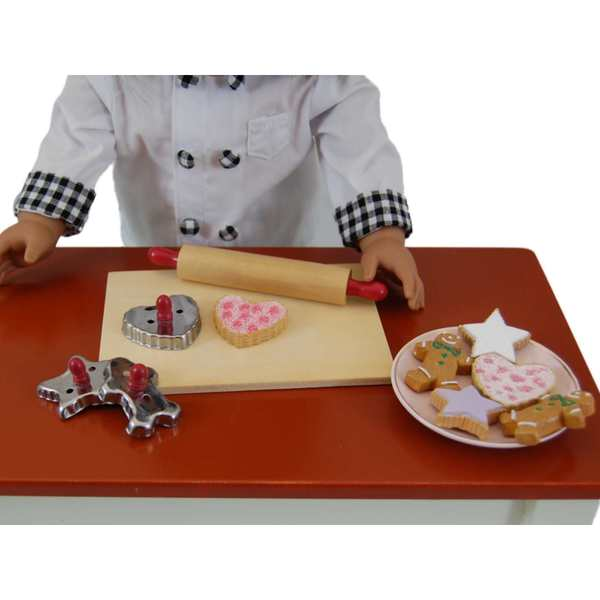 """The Queen's Treasures Cookie Baking Gift Set with Tools & Cookies Fits 18"""" Doll Accessories & Food 19900345"""
