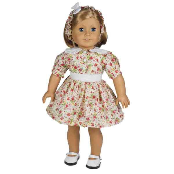 The Queen's Treasures Cotton Vintage Floral Dress Doll Clothing Outfit for 18-inch Dolls