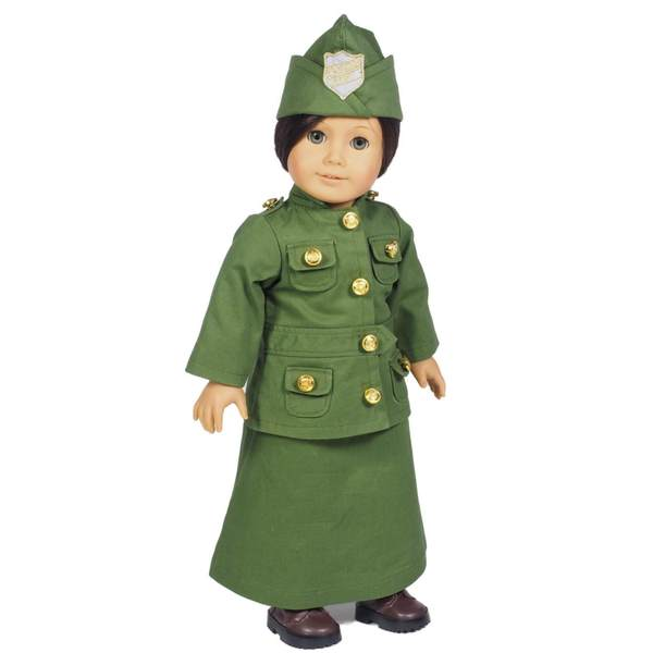 The Queen's Treasures Salvation Army WWI Uniform Doll Clothing Outfit and Accessories for 18-inch Girl Dolls