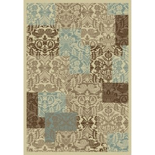 Chelsea Collection Filigree Multi Polypropylene Rug (6'7 x9'3 )