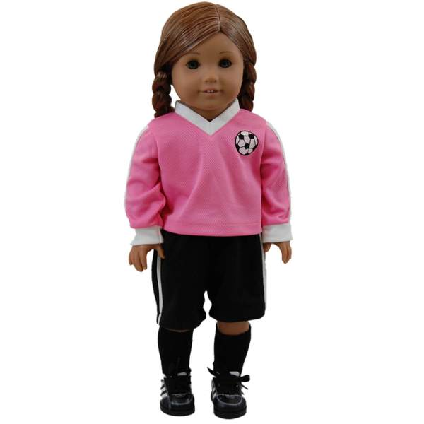 "The Queen's Treasures Soccer Shorts, Jersey and Socks Doll Clothing Outfit, Clothes & Accessories for 18"" Girl Dolls 19900639"