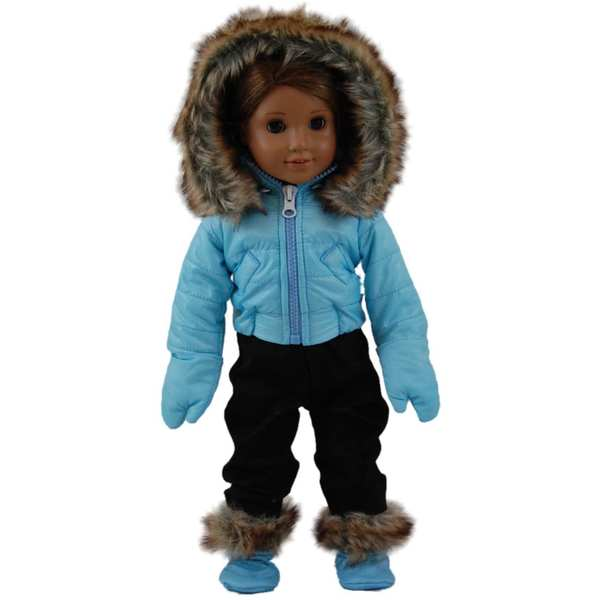 The Queen's Treasures Complete Winter Ski Time 18-inch Girls' Doll Clothing Outfit With Accessories