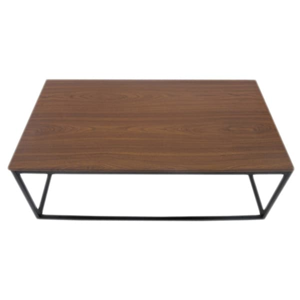 U.S. Pride Furniture Walnut/MDF Coffee Table with Metal Frame