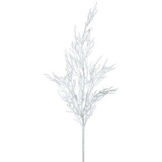Vickerman 28-inch White Glitter Wild Huck Spray (Pack of 6)