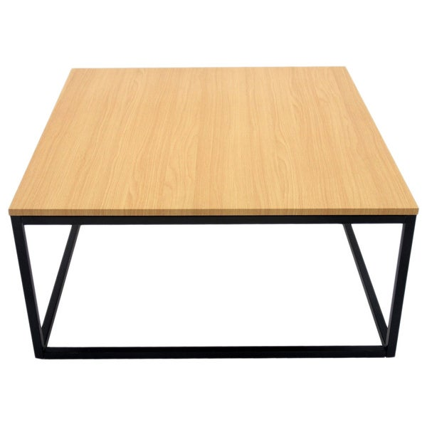 US Pride Furniture Wooden MDF Top Metal Frame Coffee Table