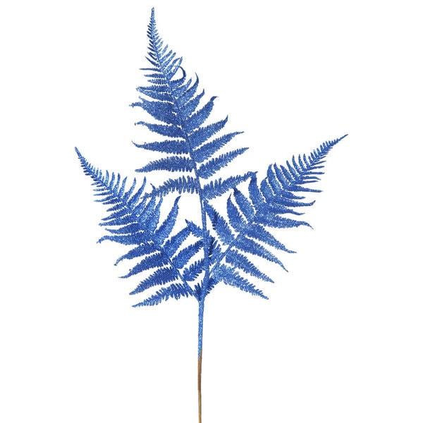 Vickerman Blue Glitter 22-inch Fern Spray (Pack of 6)
