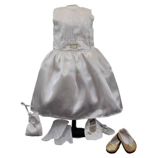 The Queen's Treasures Gala Party Ball Outfit and Shoes to Fit 18-inch Girl Doll