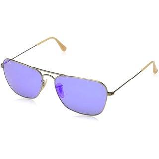 Ray-Ban Mens Caravan Sunglasses (RB3136) Bronze Matte/Blue Metal, 58MM