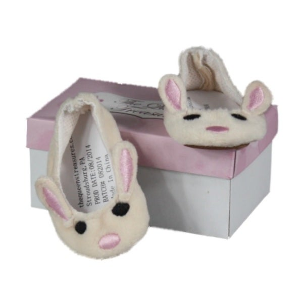 The Queen's Treasures Plush Bunny Doll Slipper