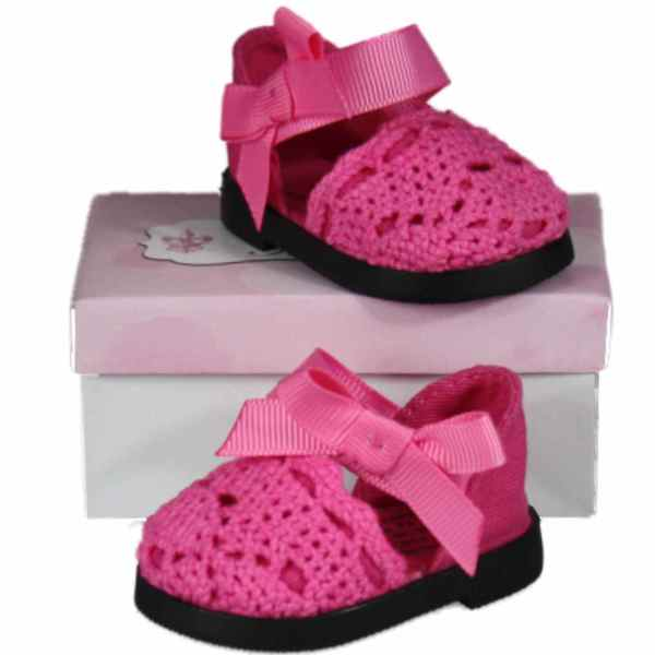The Queen's Treasures Pink Lace Espadrilles for 18-inch Girl Dolls