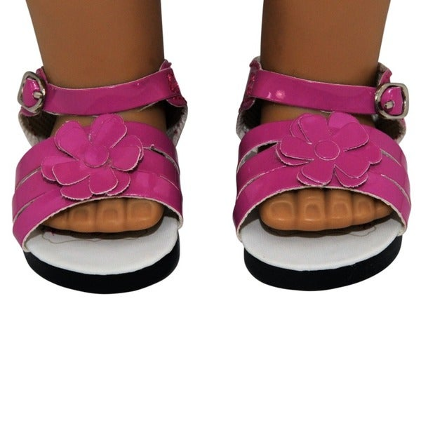 """The Queen's Treasures Pink Strappy Sandal Shoes for Use With 18"""" Dolls and Doll Clothing 19900995"""
