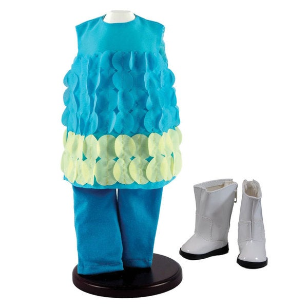 The Queen's Treasures Turquoise Legging Doll Clothing Outfit & Shoes, Clothes & Accessories for 18-inch Girl Dolls