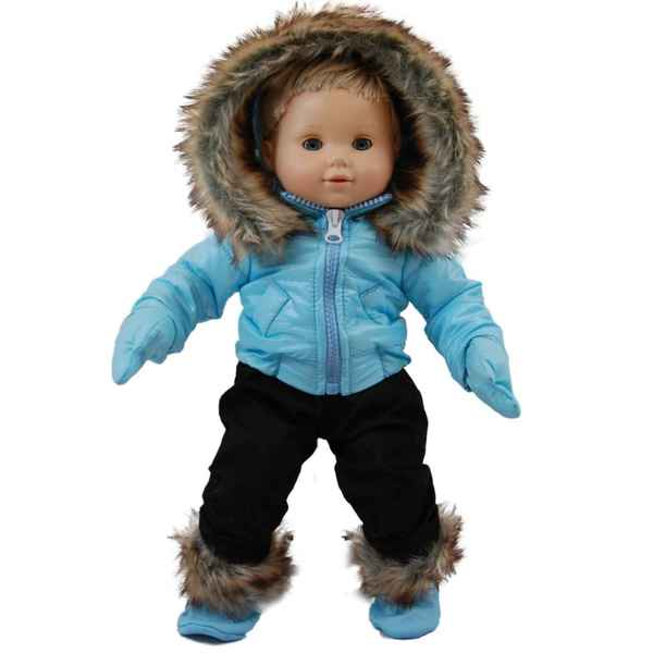 The Queen's Treasures Bitty Blue Snow Suit and Boots Doll Clothing Outfit for 15-inch Baby Dolls