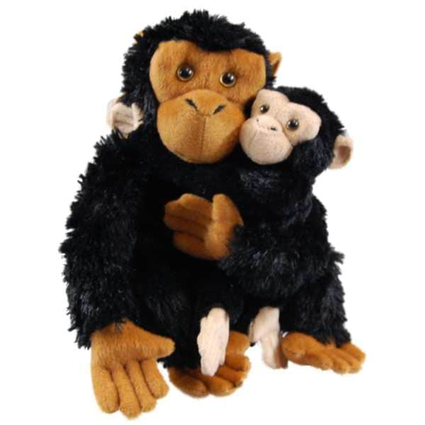 The Queen's Treasures Mother & Baby Plush Chimpanzee Toys