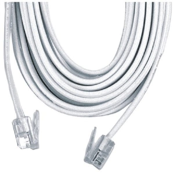 BoostWaves RJ-11 White 50 Foot Telephone Extension Cord Cable Line Wire LifeTime Warranty