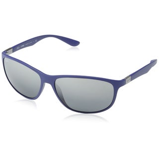 Ray-Ban Mens Tech Liteforce Sunglasses (RB4213), Blue/Grey, 61MM