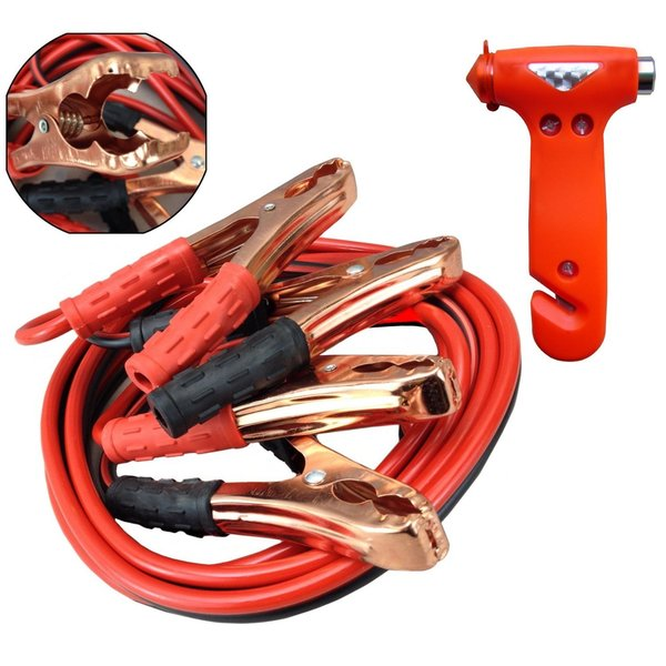 Jumper Cable Emergency Escape Hammer Combo