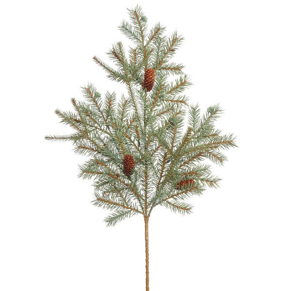 Vickerman 25-inch Blue Spruce Spray with Cones and 33 Tips