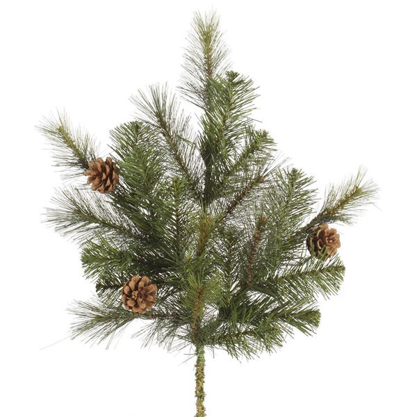 Green Indoor 24-inches Modesto Mixed Pine Spray With 25 Tips