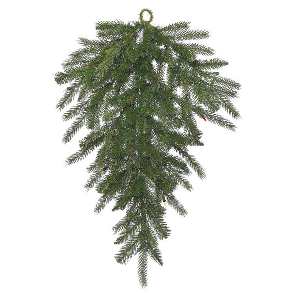Vickerman 36-inch Dunhill Fir Teardrop Swag with 130 Tips