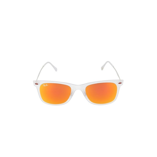 Ray-Ban Women's RB4210 Wayfarer Light Ray Sunglasses, Matte Transparent/Orange, 50MM